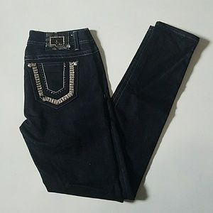L.A. Idol Dark Wash Embellished Jeans